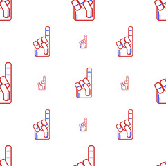 Vector background for fan finger glove
