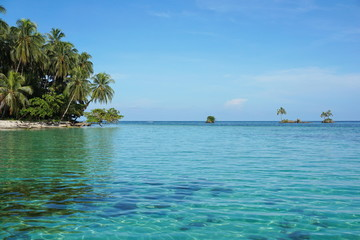 Small islets close to tropical island in Panama