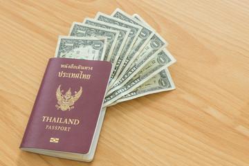 one dollar bills in thai passport