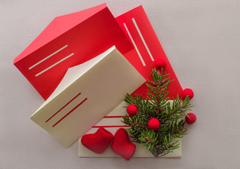 Letter to Santa Claus with envelopes