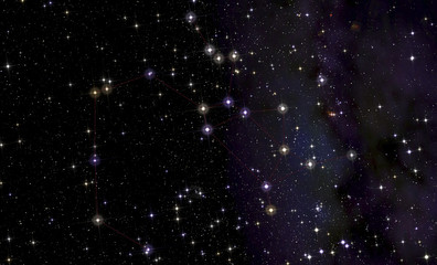 Constellation of Sagittarius  in front of the Milky Way.