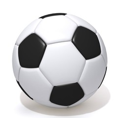 Football 3d illustration