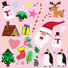 Christmas theme element for love