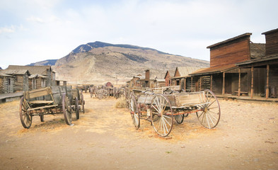 Old west, Old trail town, Cody, Wyoming, United States Wall mural
