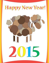 Happy new year sheep