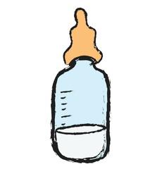 cartoon baby milk bottles isolated illustration