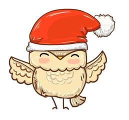 Wall Mural - owl Christmas