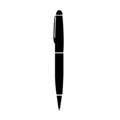 Black pen isolated on the white background