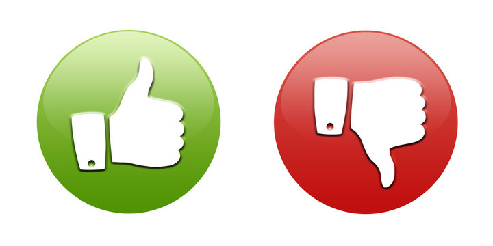 Thumbs up and down button