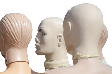 Heads of the mannequins