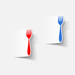 realistic design element: fork