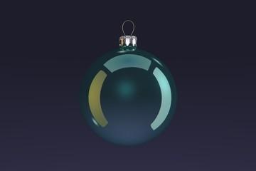 Turquoise Christmas Bulb