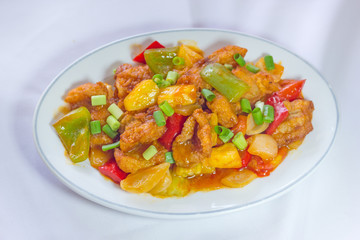 Sweet and sour sauce fried with pork