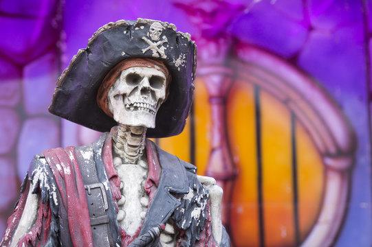 Fun fair carnival pirate skeleton
