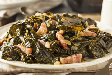 Southern Style Collard Greens Wall mural
