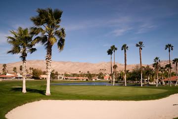 Sand Bunker Golf Course Palm Springs Vertical Desert Mountains