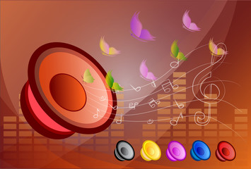 music speakers vector background