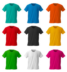 Colorful T-shirts /with clipping path