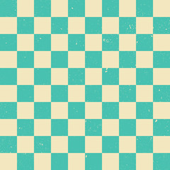 A green checkered vector background with grunge texture