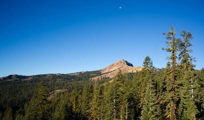 Vertical Composition Moonrise Brokeoff Mountain Lassen National