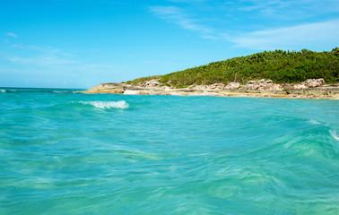 Beautiful blue water tropical beach