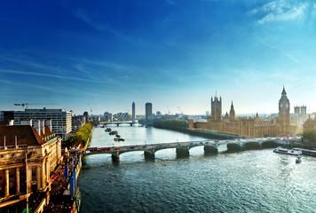 Westminster aerial view, London, UK