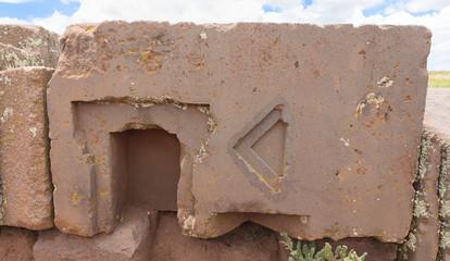 Megalithic stone in the Puma Punku, Bolivia