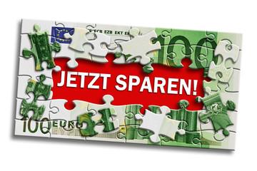 Geldschein - Jetzt sparen!