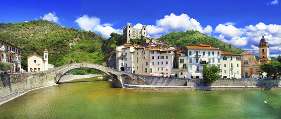 medieval villages of Italy-  Dolceacqua, Liguria