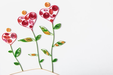 flowers made of paper quilling technique