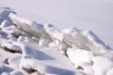 ice floe  - frozen lake