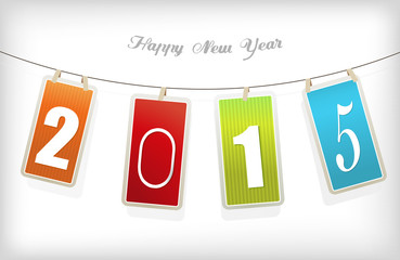 New year card. Vector art