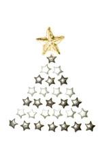 Christbaum aus Sternen