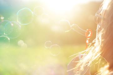 girl, portrait in the summer sun