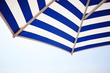 Striped sun umbrella