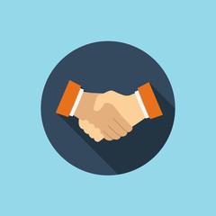 handshake flat style icon