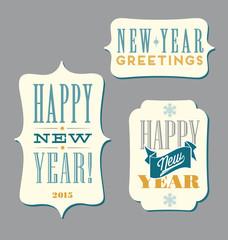 Happy New Year typography elements