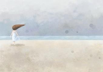 소녀와 바다
