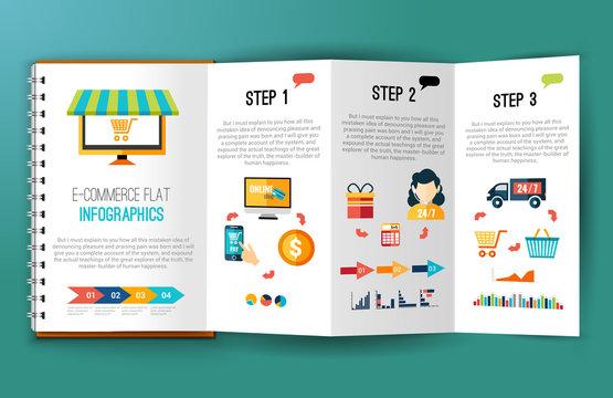 E-commerce flat infographics