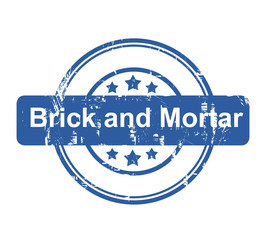 Brick and Mortar business concept stamp