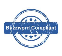 Buzzword Compliant business concept stamp