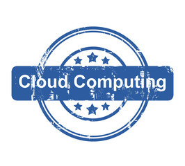 Cloud Computing business concept stamp