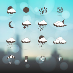 Weather icons.  Weather symbol.