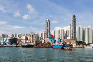 Hong Kong housing and shipyard