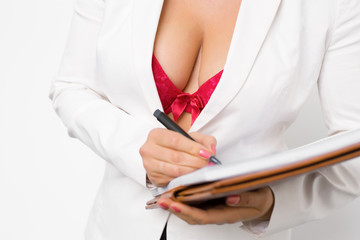 Seductive secretary