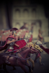 Miniature of roman empire soldiers