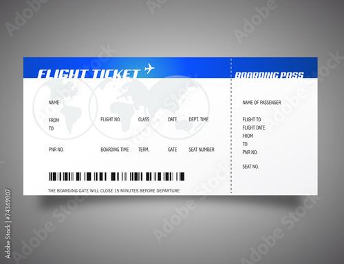 Billet d 39 avion fichier vectoriel libre de droits sur la - Modele billet avion a imprimer ...
