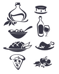 vector collection of Italian food