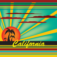 Welcome to California vector illustration