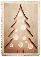 vecchia fotografia vintage albero di Natale